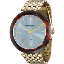 Relógio Mondaine Feminino Dourado Azul 76559LPMVDE3