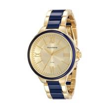 Relógio Mondaine Feminino Dourado Azul 76564LPMVDE2