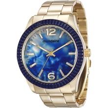 Relógio Mondaine Feminino Dourado Azul 76596LPMVDE2