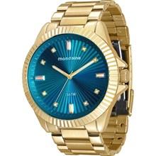 Relógio Mondaine Feminino Dourado Azul 76613LPMVDE2