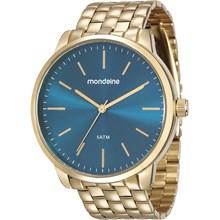 Relógio Mondaine Feminino Dourado Azul 76620LPMVDE2
