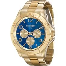 Relógio Mondaine Feminino Dourado Azul 78658LPMVDA6