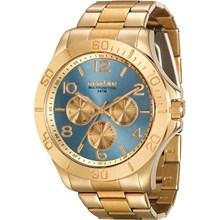 Relógio Mondaine Feminino Dourado Azul 78658LPMVKA2