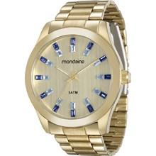 Relógio Mondaine Feminino Dourado Azul 78663LPMVDA3