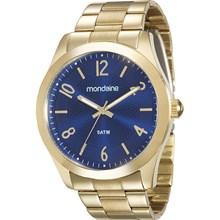 Relógio Mondaine Feminino Dourado Azul 78680LPMVDA3