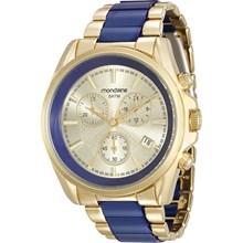 Relógio Mondaine Feminino Dourado Azul 83332LPMVDB1