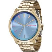 Relógio Mondaine Feminino Dourado Azul 94868LPMVDE4