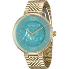 Relógio Mondaine Feminino Dourado Azul 94921LPMVDE2