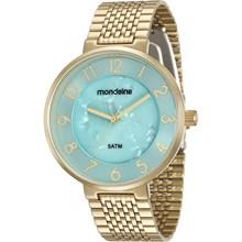Relógio Mondaine Feminino Dourado Azul 94921LPMVDE3