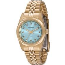 Relógio Mondaine Feminino Dourado Azul 99062LPMVDS7