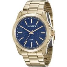 Relógio Mondaine Feminino Dourado Azul 99077LPMVDE3
