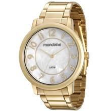 Relógio Mondaine Feminino Dourado Branco 53534LPMVDE1