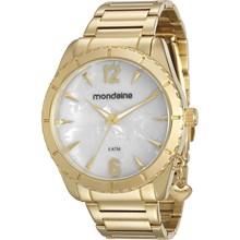 Relógio Mondaine Feminino Dourado Branco 76572LPMVDE1