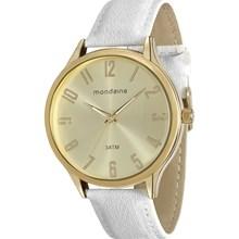 Relógio Mondaine Feminino Dourado Branco 76575LPMGDH2