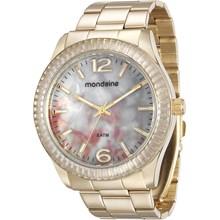 Relógio Mondaine Feminino Dourado Branco 76596LPMVDE1