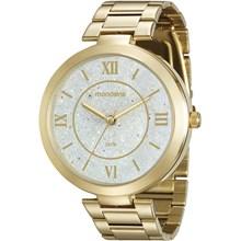 Relógio Mondaine Feminino Dourado Branco 76615LPMVDE1