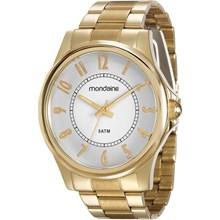 Relógio Mondaine Feminino Dourado Branco 78656LPMVDA1