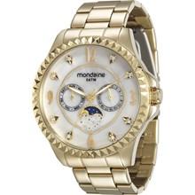 Relógio Mondaine Feminino Dourado Branco 78664LPMVDA1