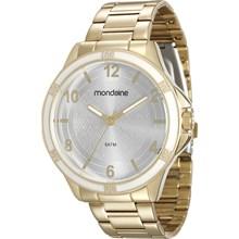 Relógio Mondaine Feminino Dourado Branco 83319LPMVDE1