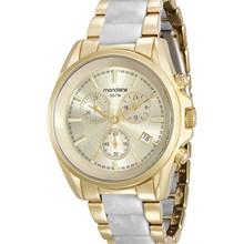 Relógio Mondaine Feminino Dourado Branco 83332LPMVDB2