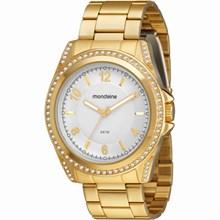 Relógio Mondaine Feminino Dourado Branco 94476LPMGDS3