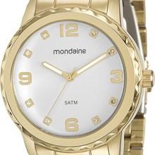 Relógio Mondaine Feminino Dourado Branco 94809LPMVDE2