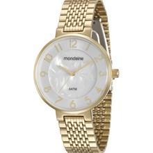 Relógio Mondaine Feminino Dourado Branco 94921LPMVDE1