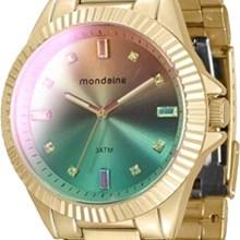 Relógio Mondaine Feminino Dourado Colorido 76497LPMVDE5