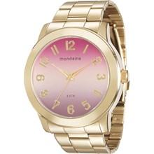 Relógio Mondaine Feminino Dourado Colorido 76514LPMVDE4