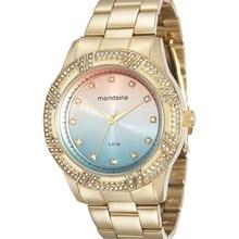Relógio Mondaine Feminino Dourado Colorido 76570LPMVDE2