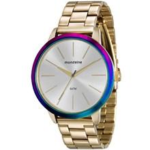 Relógio Mondaine Feminino Dourado Colorido 76638LPMVDE1