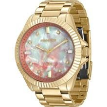 Relógio Mondaine Feminino Dourado Colorido 76642LPMVDE1