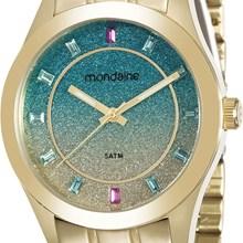 Relógio Mondaine Feminino Dourado Colorido 78687LPMVDA1