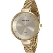 Relógio Mondaine Feminino Dourado Esteira 76597LPMVDE1