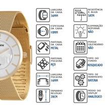 Relógio Mondaine Feminino Dourado Esteira 94876LPMVDE1
