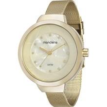 Relógio Mondaine Feminino Dourado Esteira 99052LPMVDE2