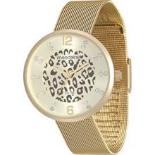 Relógio Mondaine Feminino Dourado Esteira Safari 99078LPMVDE1