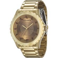 Relógio Mondaine Feminino Dourado Marrom 12034LPMVDE1