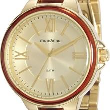 Relógio Mondaine Feminino Dourado Marrom 76564LPMVDE3