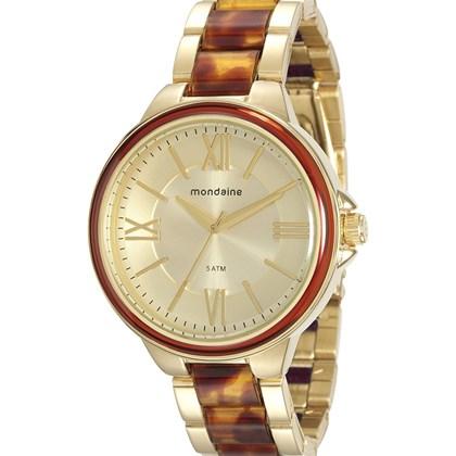 b51b411fd5a Relógio Mondaine Feminino Dourado Marrom 76564LPMVDE3 - My Time