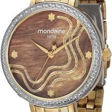 Relógio Mondaine Feminino Dourado Marrom 94684LPMVDE2