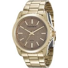 Relógio Mondaine Feminino Dourado Marrom 99077LPMVDE1