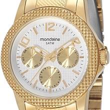 Relogio Mondaine Feminino Dourado Multifunção 60453LPMGDS1
