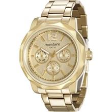 Relógio Mondaine Feminino Dourado Multifunção 94918LPMVDA1