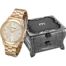 Relógio Mondaine Feminino Dourado Porta Joia 83342LPMVDE1K1