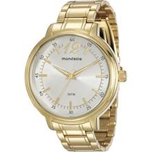 Relógio Mondaine Feminino Dourado Prata 76504LPMVDE1