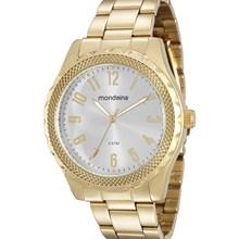 Relógio Mondaine Feminino Dourado Prata 76569LPMVDE1