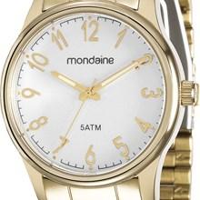 Relógio Mondaine Feminino Dourado Prata 78641LPMVDA1
