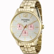 Relógio Mondaine Feminino Dourado Prata 78737LPMVDA3