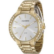 Relógio Mondaine Feminino Dourado Prata 83321LPMVDE1